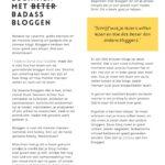 Leren bloggen - Badass Bloggen - beter bloggen